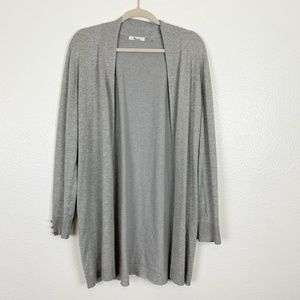 89th + Madison Gray Waterfall Tunic Cardigan L